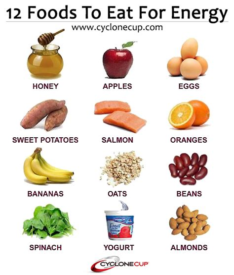 12 healthy foods to eat for high energy food energy