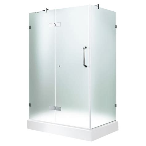 shop vigo frameless showers chrome walls  included