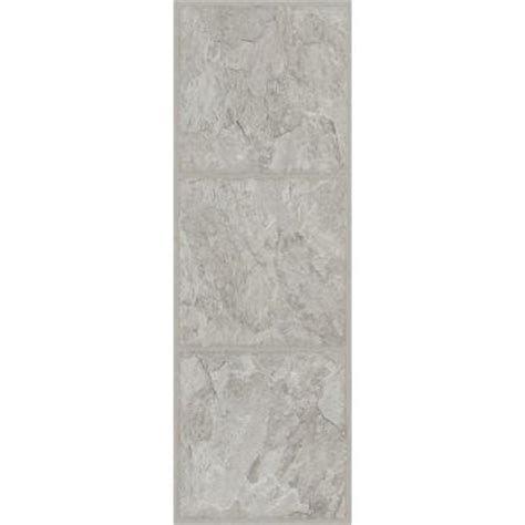 TrafficMASTER Allure 12 in. x 36 in. Shale Grey Resilient