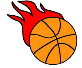 Flaming Basketball Clip Art