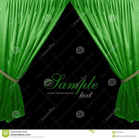 fond vert de rideau en th 233 226 tre illustration stock image