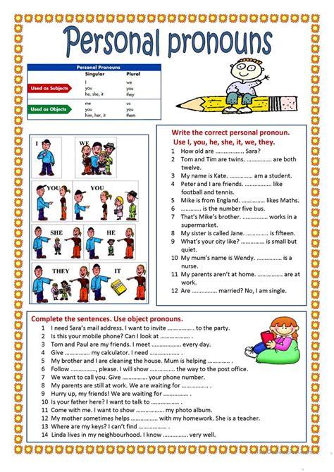 Personal Pronouns Worksheet  Free Esl Printable Worksheets Made By Teachers
