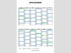 2018 calendar ≡ freecalendarscom