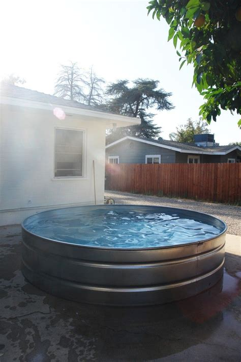 pool tubs galvanized livestock tank will be converted to my tub