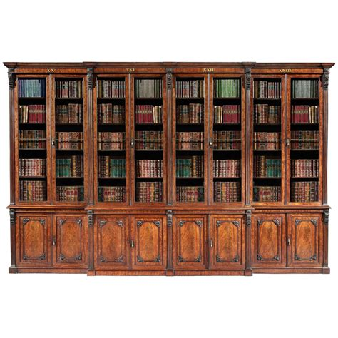 Bookcases For Sale by Antique 19th Century Mahogany Library Bookcase For