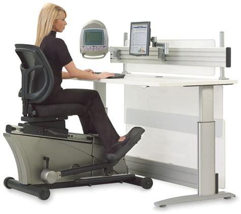 exercise equipment for desk jobs elliptical machine adjustable height desk the green head