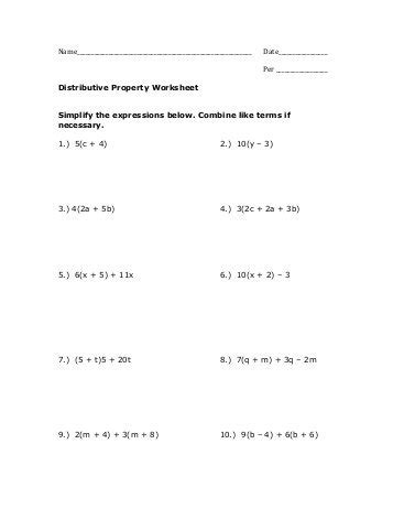 Identity Property Of Addition Worksheet  Algebra Ii By Definitions Equation A Mathematical