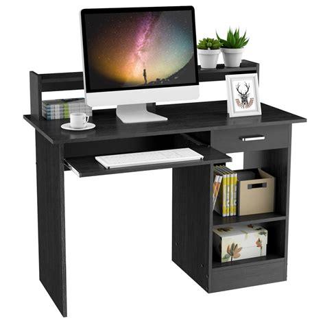 smilemart wooden computer desk small spaces laptop desktop