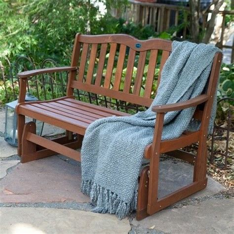 Outdoor Porch Chairs by Wooden Loveseat Glider 2 Seater Outdoor Bench Furniture
