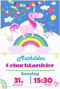 Partyspiele Kindergeburtstag Ab 10 : einhorn einladung zum ausdrucken kindergeburtstag ~ Articles-book.com Haus und Dekorationen