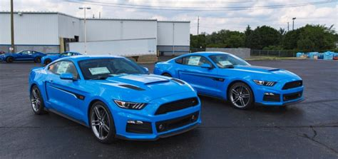 Roush Tricks Out A Pair Of Grabber Blue S550 Mustangs