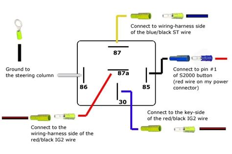 Automotive Wiring Relay Diagram by 12v 5 Pin Relay Wiring Diagram Wiring Diagram And