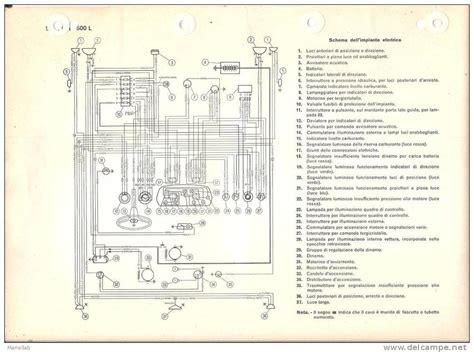 schema impianto elettrico fiat 500 d epoca fare di una mosca