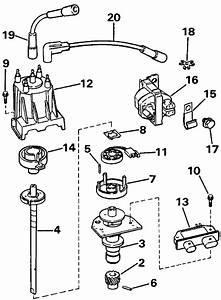 Omc Stern Drive Distributor  U0026 Ignition Coil Parts For 1993