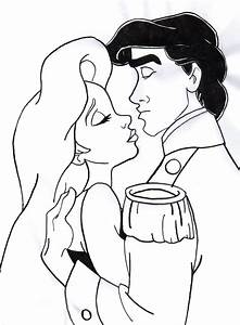Ariel And Eric Kissing Coloring Pages | www.pixshark.com ...