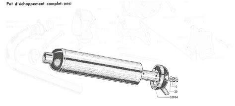 echappement pots et silencieux d 233 chappement pi 232 ces pour mobylette motobecane mbk solex