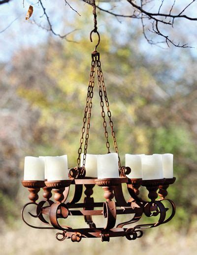 Outdoor Candle Chandeliers Wrought Iron by 17 Best Ideas About Outdoor Chandelier On