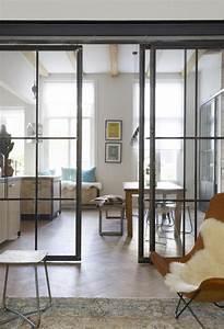 Porte Verre Suspendu : la porte coulissante en verre gain d 39 espace et ~ Teatrodelosmanantiales.com Idées de Décoration