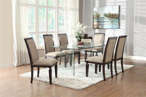 alouette rectangular glass dining table  homelegance