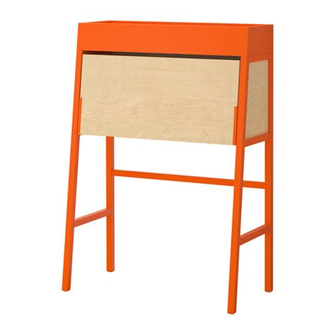 bureau secretaire moderne ikea ps 2014 orange birch veneer ikea