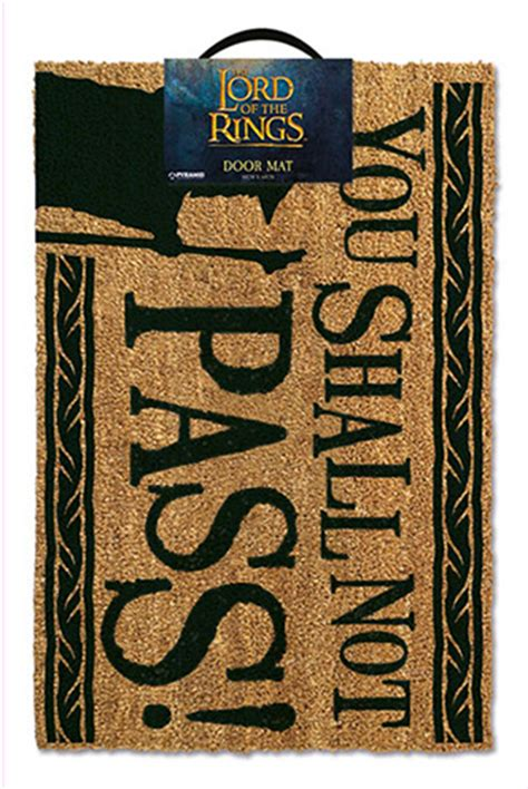 Lord Of The Rings Doormat by Lord Of The Rings Doormat You Shall Not Pass Funko