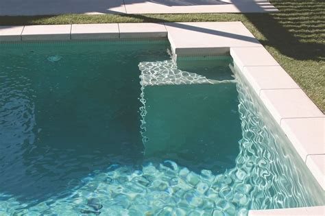 Pool Waterline Tile Ideas by Soft Green Colour At The Waterline Matched With The Soft