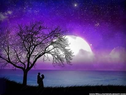 Romantic Moonlight Wallpapers Moon Purple Night Lover