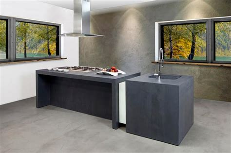 béton ciré résine cuisine salle de bain salon