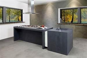cuisine beton cire bois ides dco pour une salle de bain With beton cire mur cuisine
