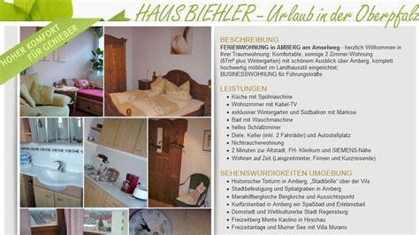 Wohnung Mieten Cham Oberpfalz by Monteurunterkunft In Amberg Ferienwohnung Im Amselweg
