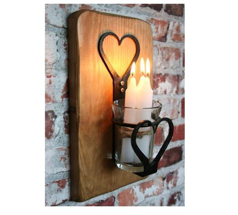 sconce candle lantern wrought iron heart design candle