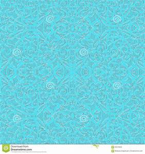 Baroque Style Light Blue And Silver, Eps10 Stock Vector ...