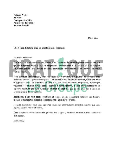 lettre de motivation pour aide de cuisine modele lettre de motivation d 39 aide soignante gratuite