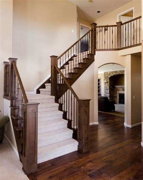 home interior stairs best 25 wood stair railings ideas on pinterest staircase railing design rustic wood
