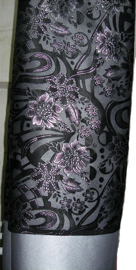 Wonderful Shop: Kain sepasang jenis nipis corak silver hitam