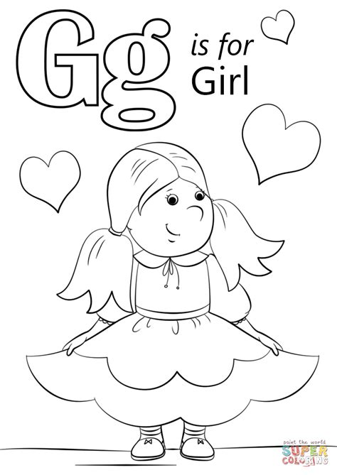 reading and writing coloring pages coloring pages 494 | letter g coloring pages preschool reading amp writing worksheets girl writing coloring page