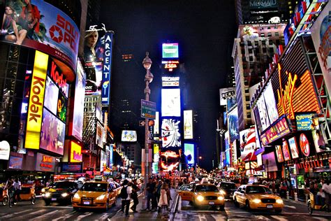 time square lighting this place is so attractive especially at bright
