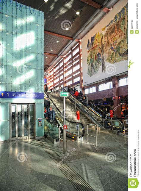 glass elevator  train station  innsbruck editorial