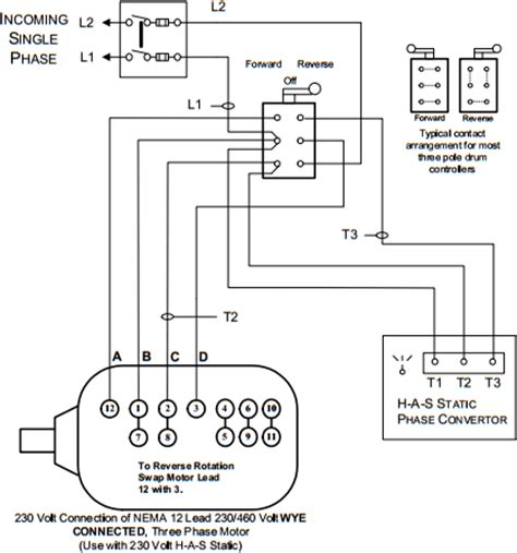 Static Phase Converter Installation Diagrams