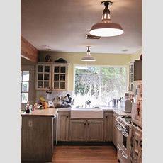 Vintage Benjamin™ Warehouse Shades For Farmhouse Kitchen
