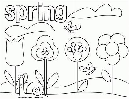 Coloring Spring Pages Kindergarten Printable Sheets Toddlers