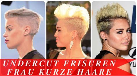 frisuren für kurze haare frauen undercut frisuren frau kurze haare