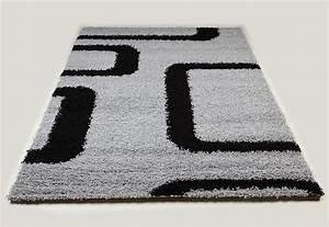 tapis shaggy gris et noir de salon vasco 10 With tapis noir et gris