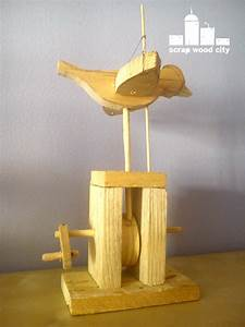 scrap wood city: Wooden flying bird