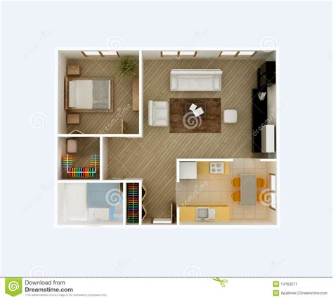 Top Apartment Floor Plans by Apartment Floor Plan Top View Stock Illustration