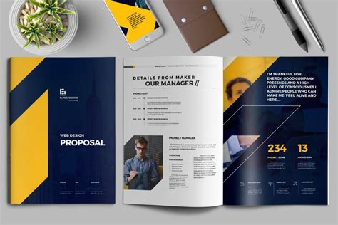 project proposal templates  adobe indesign