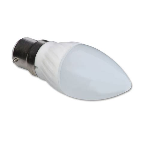 3w led candle bulb bayonet fit warm white from lindy uk