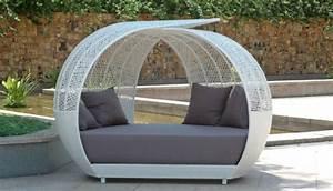 lounge mobel fur garten und terrasse runde formen trendig With französischer balkon mit lounge sessel garten rund