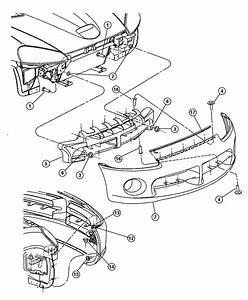 2003 Dodge Fascia  Front  Primed  Toneblack