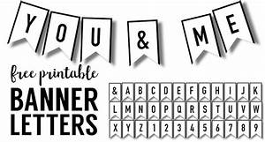 banner templates free printable abc letters paper trail With cut out letters for banners